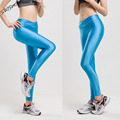 Dry Quickly Leggings Bright Colors Shiny and Slippery Spandex Legins Female Women Smoothy Candy Colors