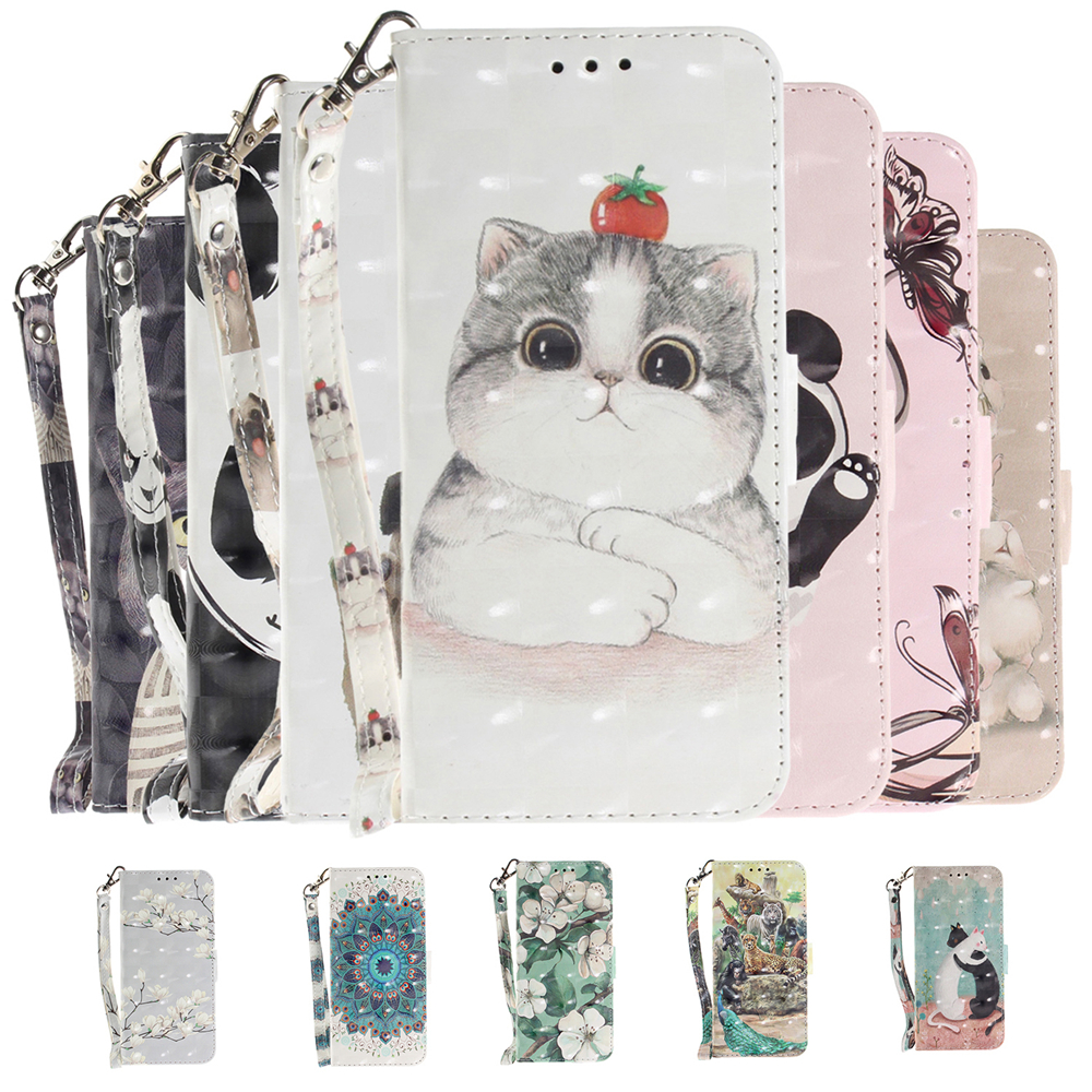For Samsung Galaxy S7 S7 Edge Case 3D Painting Flip Case Cover PU Wallet Leather Case Color pattern Protective Cover