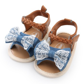 baby girls shoes newborn summer new fashion canvas bow PU casual soft first walkers baby toddler shoes 1