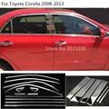 Автомобильный Стайлинг кузова Стекло окно гарнир столб средней колонны полосы отделка для Toyota Corolla Altis 2008 2009 2010 2011 2012 2013