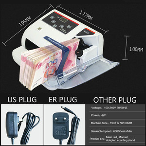 Image 5 - Mini Money Detector with UV MG WM Bill Counter for Most Currency Note Bill Cash Counting Machine EU V10 Financial Equipment