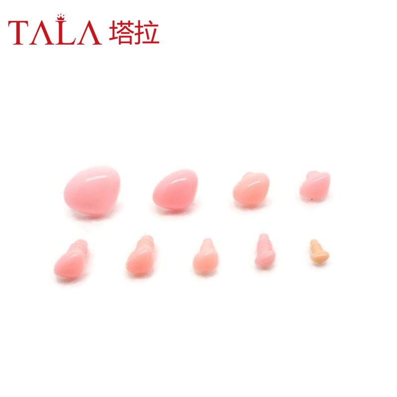 50pcs 4.5mm-18mm Pink Safety Noses For Teddy Bear Free Shipping