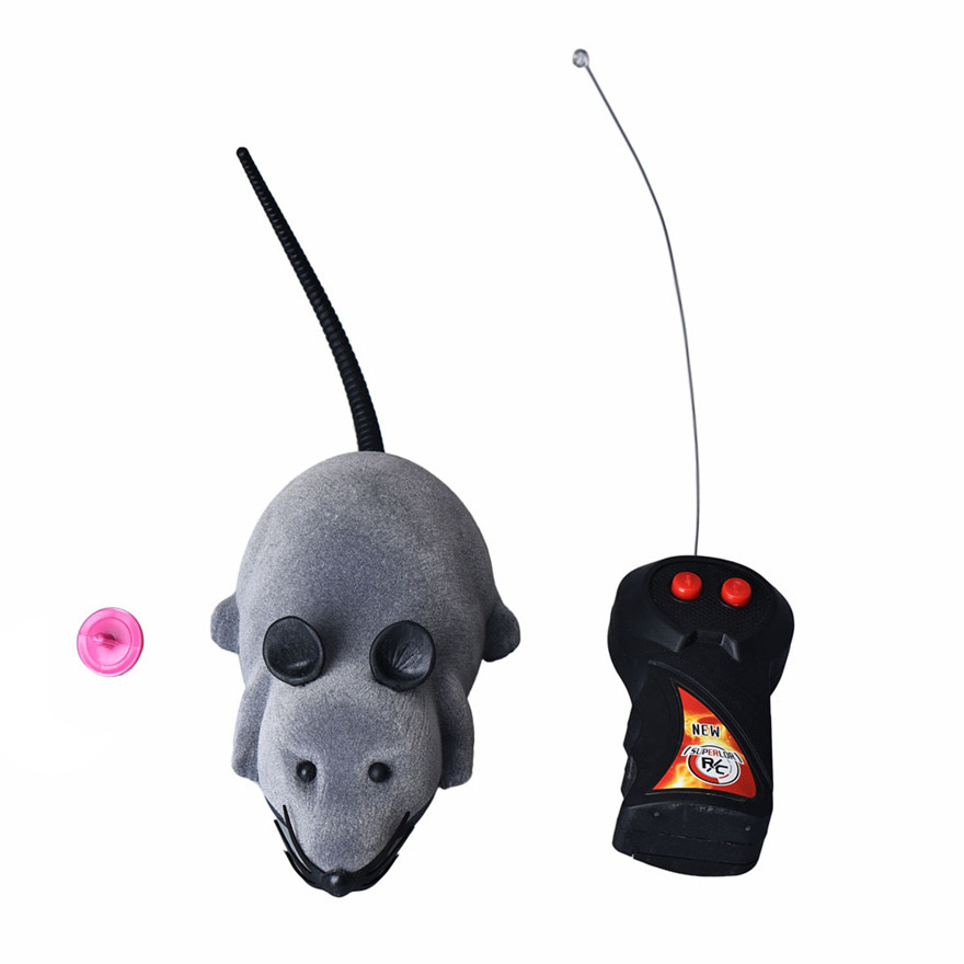 Wireless Remote Control Mouse Toys for Children joks Cat Mice Toy  Simulation Funny Mouse Toy gift Black/Gray/Brown