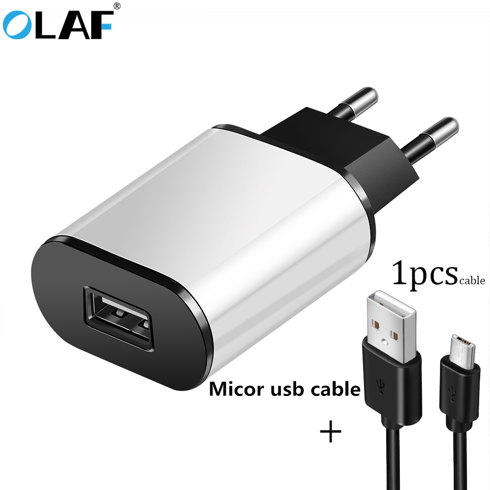 OLAF Universal EU Plug USB Charger With Micro usb cable 5V 2A Travel Wall Mobile Phone Charger For iPhone Samsung Xiaomi Tablets