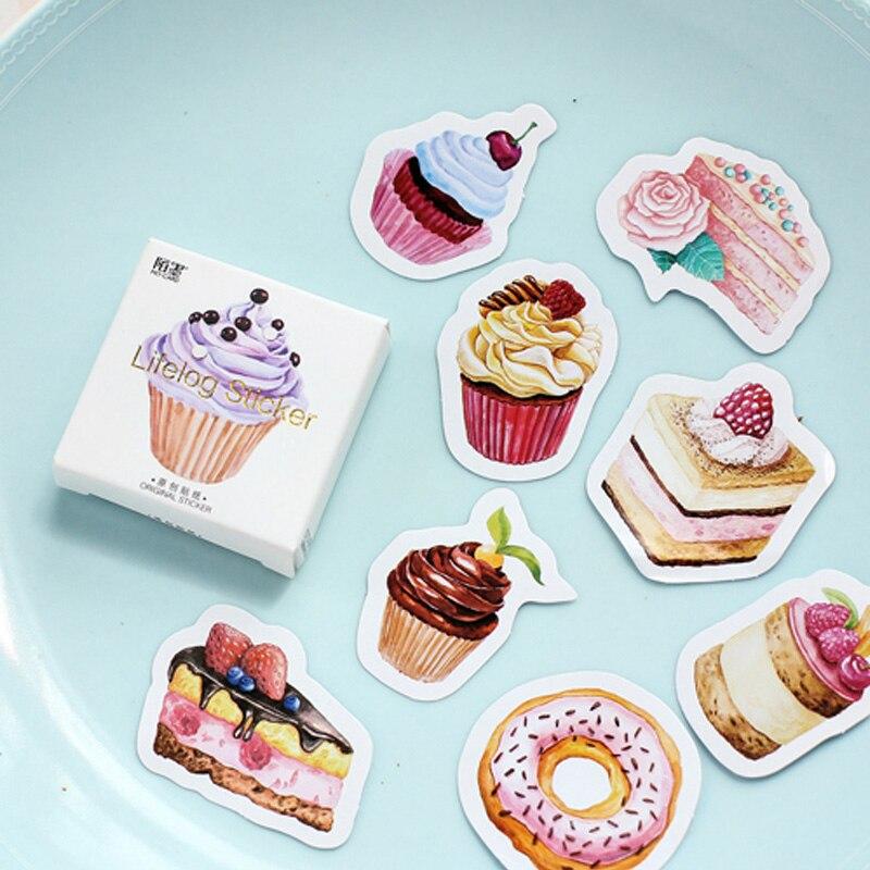 45 pcs/lot Birthday Cake mini paper sticker decoration DIY ablum diary scrapbooking label sticker kawaii stationery