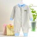 Ropa de bebé Pijama Recién Nacido Mamelucos Del Bebé Infantil del Mono de La Manga Larga de algodón Niños Chica de Primavera Otoño Ropa de Sport de Algodón bebes