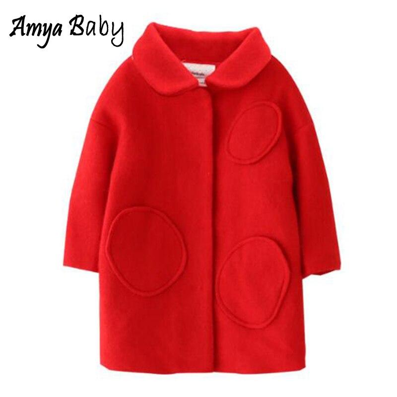 Amya Baby Girl Wool Coat Autumn Winter Girls Coats And