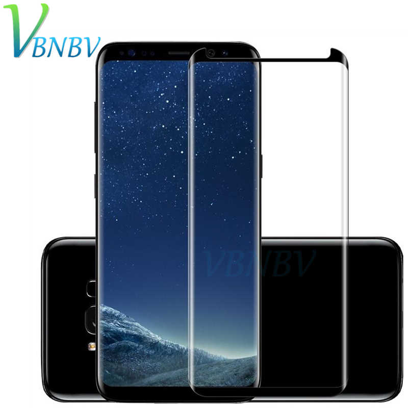 VBNBV 3D full Cover Glass For Samsung Galaxy S7 Edge S8 S9 Plus Screen Protector Tempered Glass For Samsung Note 9 8 Glass Film