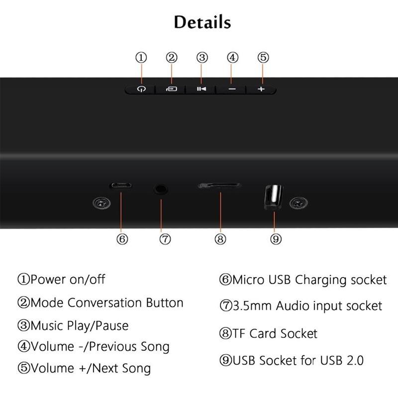 XGODY BS-28A Home cinéma Bluetooth barre de son TV Super basse stéréo haut-parleur haut-parleurs barre de son avec Subwoofer haut-parleur pour TV - 4