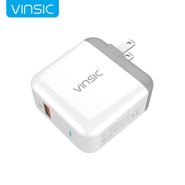 Vinsic carga rápida 3.0 usb cargador de pared 18 w inteligente rápido turbo cargador móvil para samsung galaxy s6 edge xiaomi iphone7 UE/EE. UU.