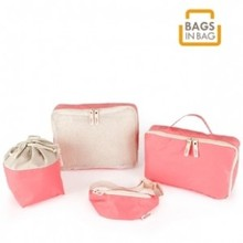 Hot 4pcs Fashion useful bags in bag storage