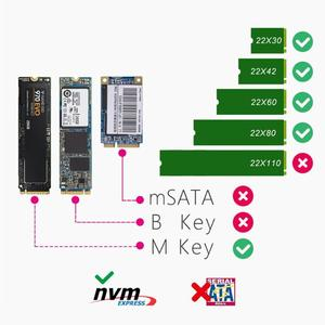Image 4 - USB 3.1 Tip c NGFF M.2 Anahtar M sabit disk Sabit Disk Kutusu NGFF PCIE Adaptörü Dönüştürücü Kartı muhafaza Kutusu WinXP/Vista/Win7