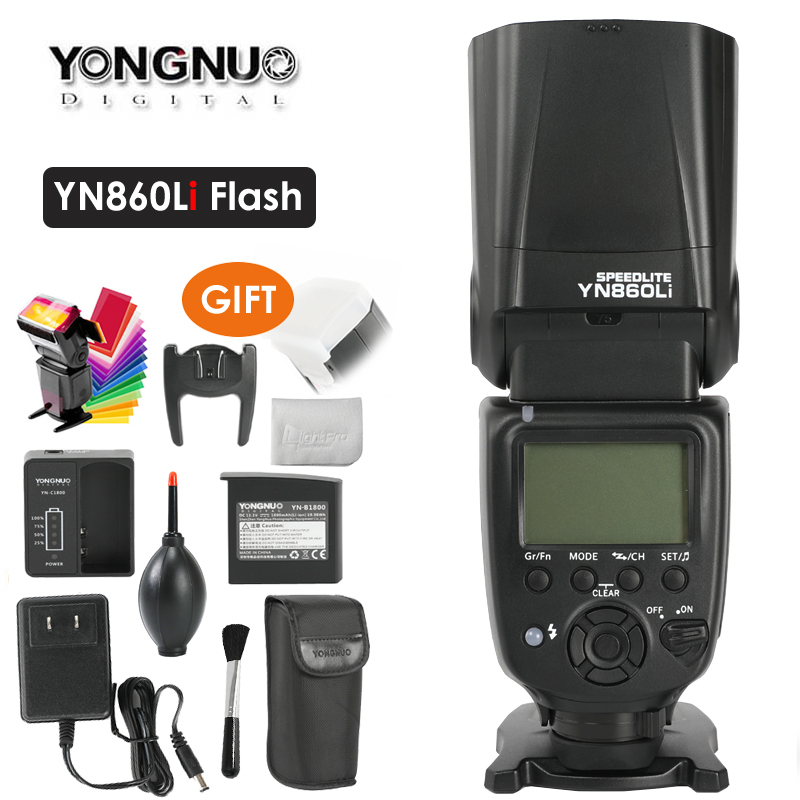 Yongnuo YN860Li Wireless Flash Speedlite w/ Lithium Battery Flash Light for Nikon Canon Compatible YN560III YN560IV YN660 YN968NYongnuo YN860Li Wireless Flash Speedlite w/ Lithium Battery Flash Light for Nikon Canon Compatible YN560III YN560IV YN660 YN968N