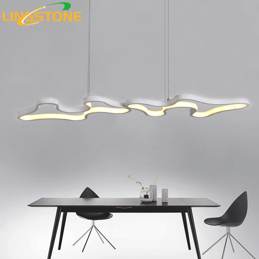 Led Chandelier Lighting Lustre Modern Lamp Aluminium Hanging Light Living Room Bedroom Kitchen Bar Restaurant Ceiling Chandelier noosion modern led ceiling lamp for bedroom room black and white color with crystal plafon techo iluminacion lustre de plafond