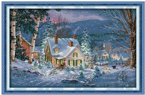 Winter's Hush Christmas Counted Cross Stitch Sets Cross Stitch 11CT 14CT Cross Stitch Kits Embroidery Dimensions 70-062