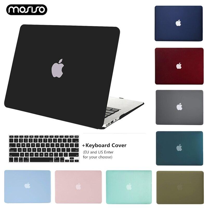 Mosiso novo caso fosco para macbook ar 11 13 polegada capa protetora para mac book pro 13 15 retina barra de toque a1706 a1707 a1990