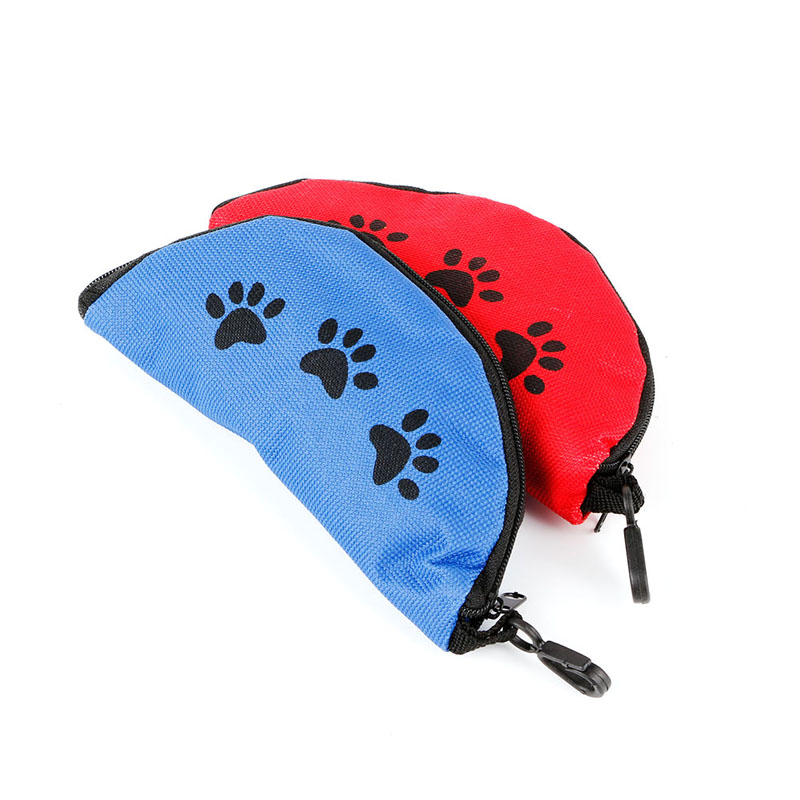 Portable 1PC Folding Pet Dog Dish Feeders 600D Oxford Cloth Waterproof Zipper Foldable Travel Dog Food Water Bowl Pet Supplies