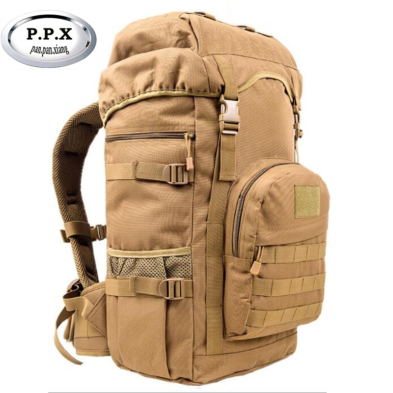 High Quality 50l Men Backpack Travel Rucksack Heavy Duty Bag Movement Mountaineering Backpack Molle Backpacks X396