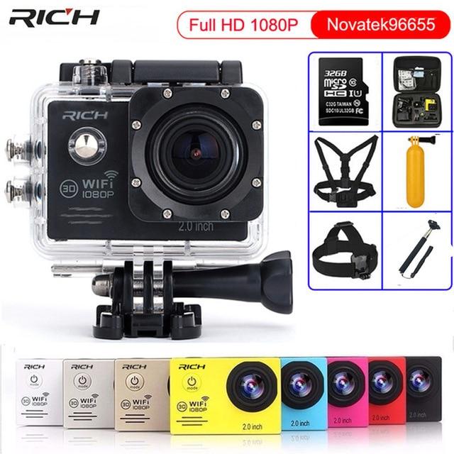 Action Camera Novatek96650 1080p 30fps 2.0 inch Mini Cam wifi 170 degrees Go Waterproof 30m pro Style Outdoor Sport Camera
