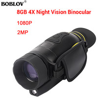 BOBLOV 4x35 Infrared Multifunctional Digital Night Vision Monocular Camera Scope Glasses Photo Video Large Screen Hunting