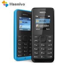 Nokia 105 reformado-Original desbloqueado Nokia 105 FM Radio teléfono móvil tarjeta SIM o tarjeta SIM Dual envío gratuito