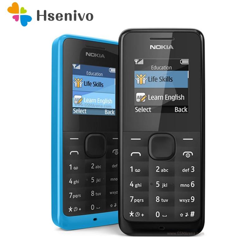 Unlocked Original Nokia 105 FM Radio Good Quality Refurbished Cheap Mobile Phone Single SIM Card Or Dual SIM Card Free Shipping