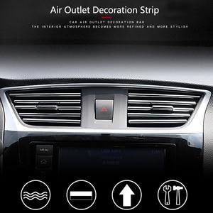 Image 3 - Tira decorativa para rejillas de ventilación Interior de coche, bricolaje, en forma de U, para Chevrolet Cruze Orlando Lacetti Malibu Volt Camaro