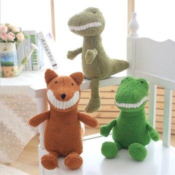 2018 Новое поступление 20 см улыбка мягкая бамбуковый уголь кролик собака акула летучая мышь динозавр плюшевые игрушки животных кукла для реб...