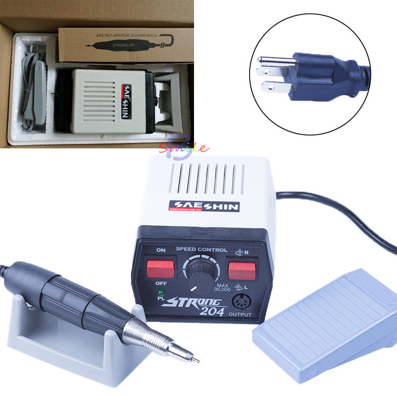 220V/110V Micro Motor 35000RPM Strong 204 Micromotor Hand and 102 Handpiece Dental Tool