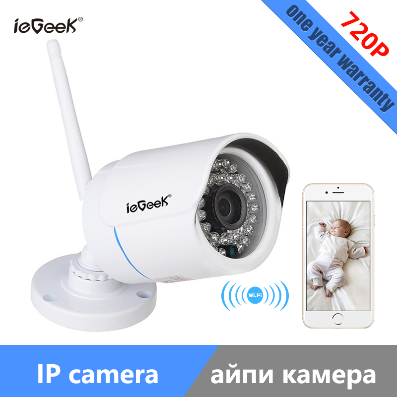 ieGeek  Newly Wireless WIFI IP Camera  Megapixel P2P 720P Outdoor CCTV Digital Security Bullet Cam IR Infrared With Night Vision толстовка wearcraft premium унисекс printio bjork