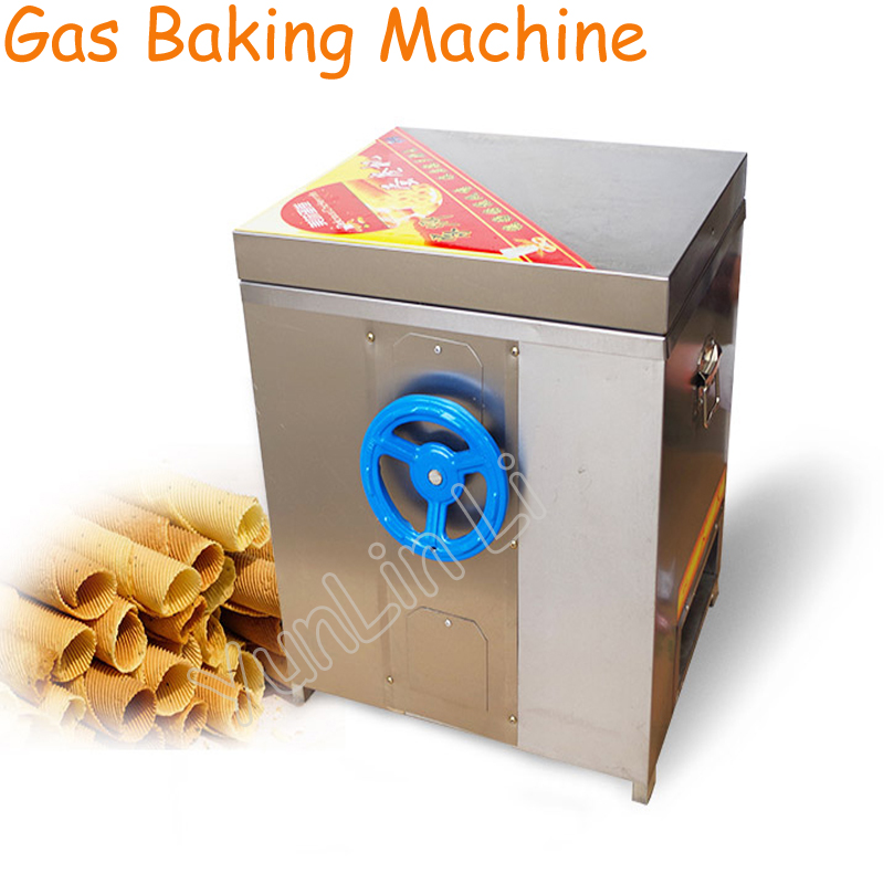 Gas Egg Roll Machine Commercial Baker Stainless Steel Toasted Crispy Egg Roller Non Stick Pan Roll Making Machine 60