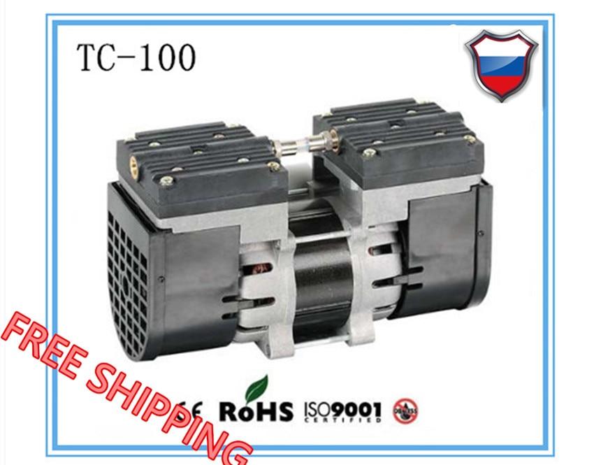 TC-100 AC110V/220 V mini Électrique à membrane sans huile 100 w pompe à vide Médical muet pompe avec 24L/min débit d'aspiration