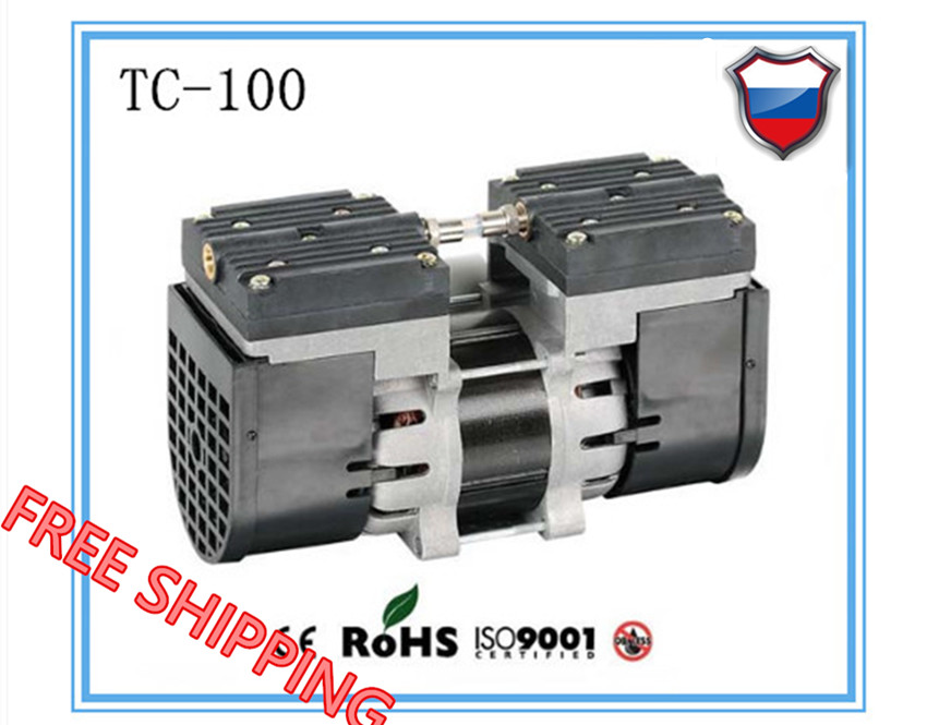 TC-100 AC110V/220V Electric mini oil - free diaphragm 100w vacuum pump Medical mute pump with 24L/min vacuum flow