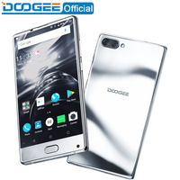 Doogee смешивания ободок-менее зеркало серебро смартфон Dual Камера 5.5 ''AMOLED MTK helio P25 Восьмиядерный 6 ГБ + 64 ГБ Android 7 мобильного телефона