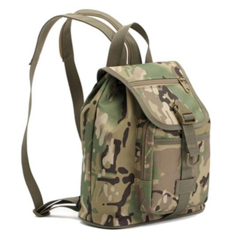 Best-selling camouflage backpack army fan mens and womens small chest bales walking outdoors travel backpack mochila