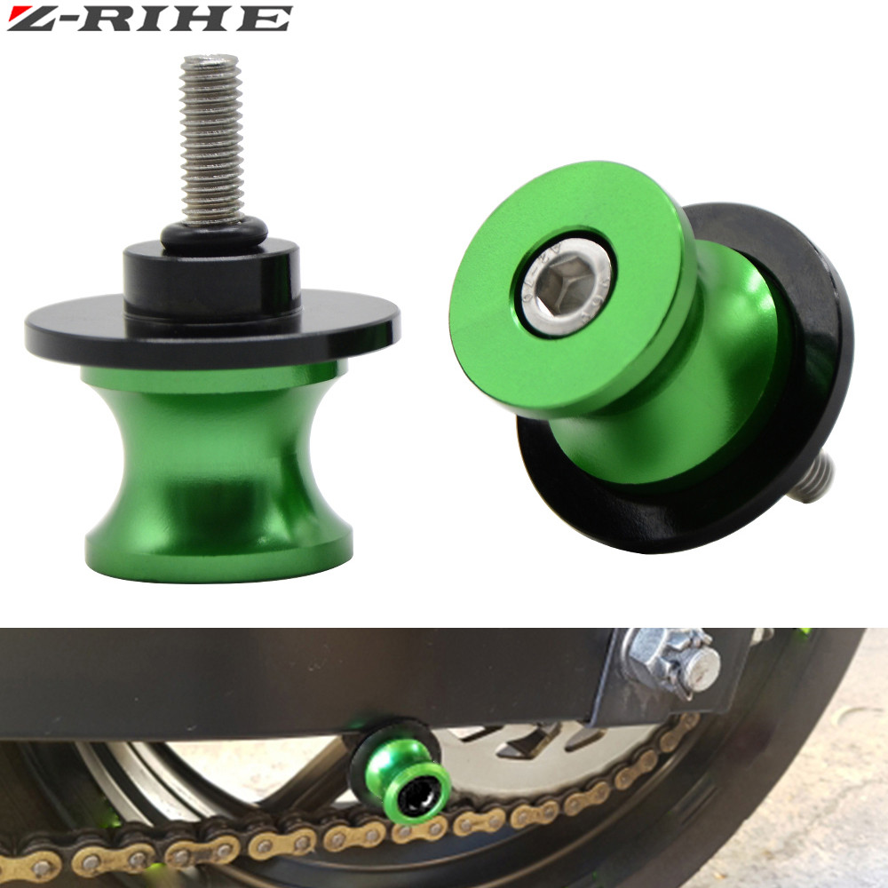 for Kawasaki Ninja 650R 2006-2011 swing arm <font><b>Sliders</b></font> Motorcycle CNC Swingarm Spools stand screws <font><b>Slider</b></font> <font><b>para</b></font> <font><b>moto</b></font> motocicleta image