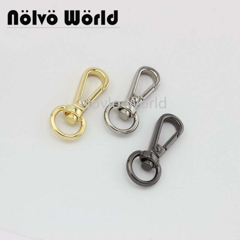 6 pieces test,41*11mm small quantity bags purse accessories, suitcase or handbag strap chain swivel clasps()