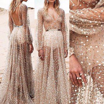 High quality slim temperate fashion bandage dress full sleeve maxi long dress v-neck sexy club dress F0470 Платье