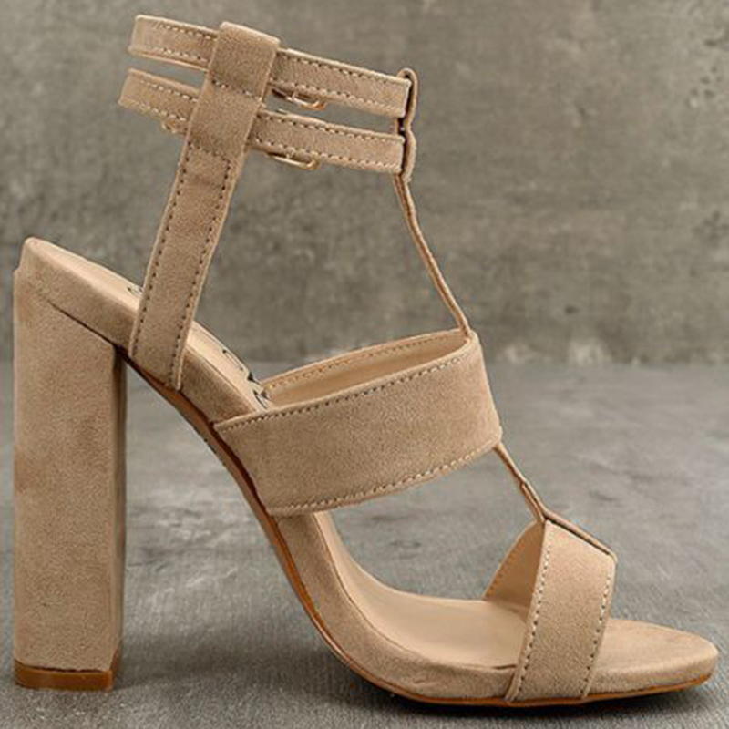 HEE GRAND 2019 Women 39 s High Heel Sandals Women Summer Shoes Buckle with Fashion Sandalias Sexy Party Shoes 4 inches XWZ4806 in High Heels from Shoes