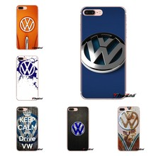 Para o iPod Touch Da Apple iPhone 4 4S 5 5S SE 5C 6 6 S 7 8 X XR XS Mais MAX Quebrado Velho Volkswagen VW Logotipo Do Carro Saco Tampa Do Telefone de Silicone(China)
