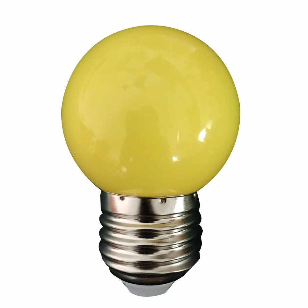 Newest Colorful E27 110V 220V Red blue green white yellow rgb blubs Energy Saving LED Golf Ball Light Bulb Globe Lamp#15