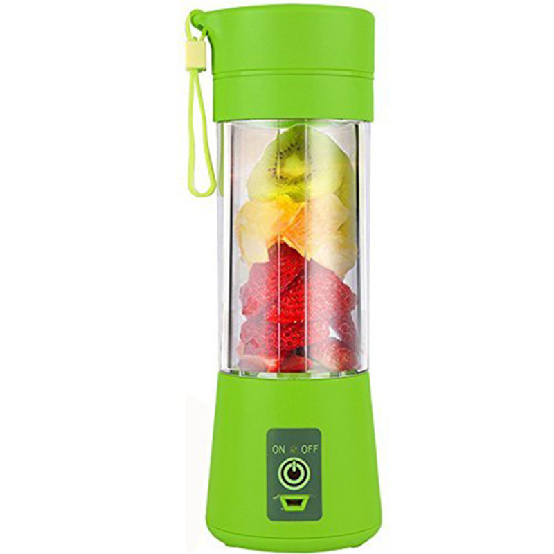 Hot Sale-400ml USB Juicer Cup Fruit Mixing Machine  Portable Juice Blender Household Fruit Mixer With Six Blades