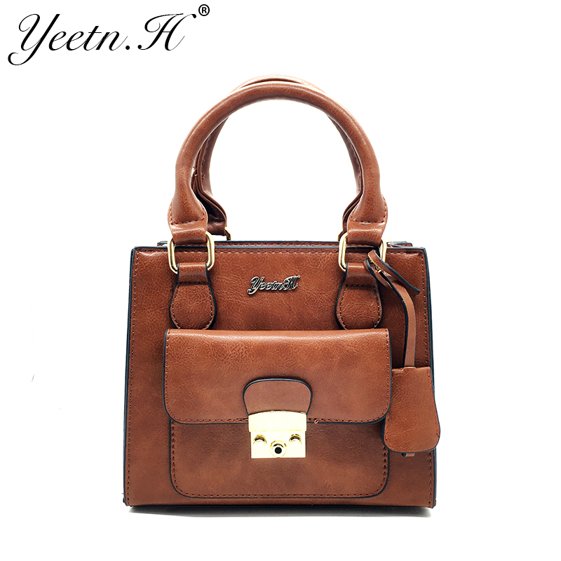 Yeetn.H 2018 New Arrival Fashion Genuine Leather Woman Handbags Vintage Bag For Women Crossbody Bag Women Bag M7072 new arrival leather handbags women fashion phone bag female storage wallets
