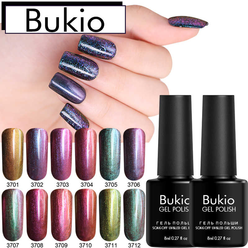Bukio Chameleon Gel Nail Polish UV Nail Gel Manicure 12 Colors Soak Off UV LED Semi-permanently Gel Varnish Nail Art Lacquer