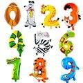 1 Шт. Количество Животных Надувные Фольги Свадьба С Днем Рождения Украшения Надувные Игрушки для Ребенка Подарки