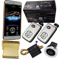 car automotive security systems remote start alarm system gsm gps mobile phone app control online tracker bluetooth pke lock