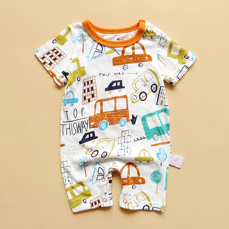 2018 new baby onesies romper summer cotton short-sleeved baby clothes baby clothes for men and women