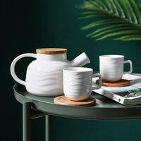 Japanese heat resistant ceramic kettle set home fruit flower teapot tea cup teapot tea set