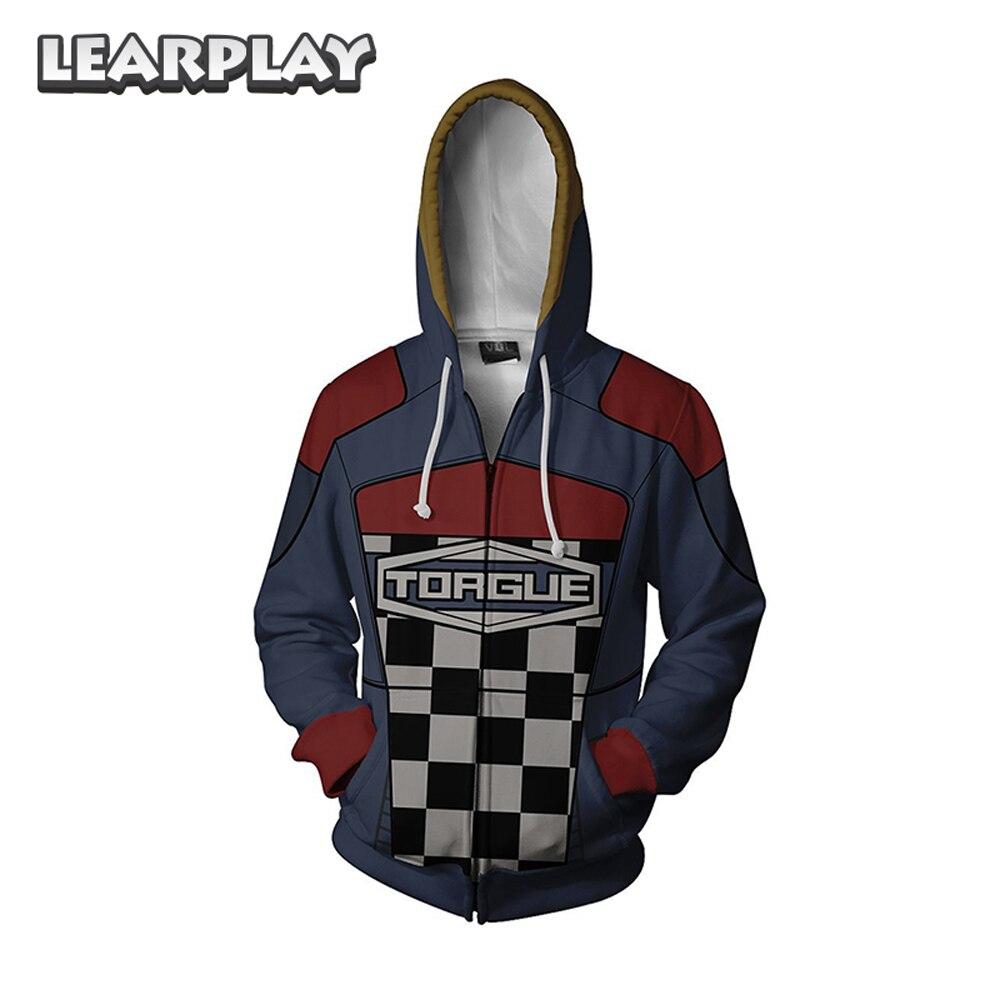 Game Borderland Hoodies Assassin Zero Cosplay Costume 3D Print Sweatshirt Hooded Coat Cartoon Men Adults Zipper Jacket