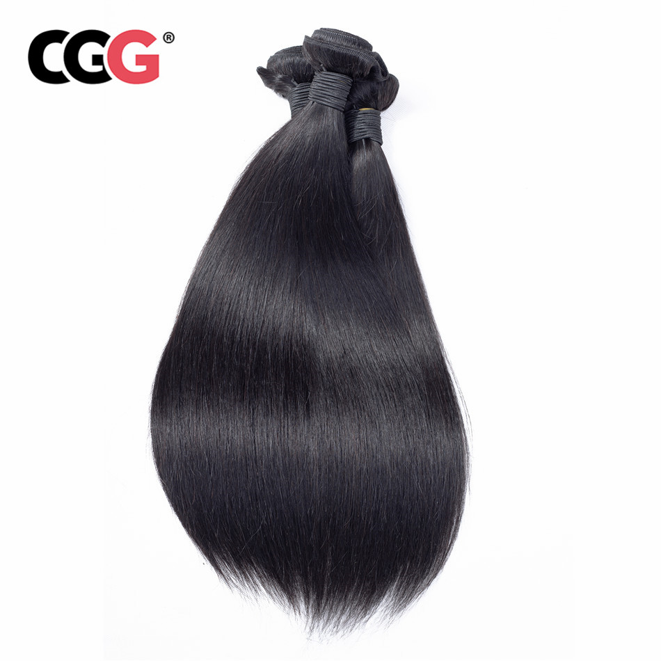CGG Wig Human-Hair-Bundles Straight Hair-Extensions Weave No-Smell Natural-Color 8-26-Inch